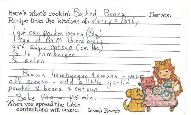 Baked Beans-Kerry & Kathy