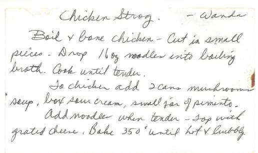 Chicken Strog
