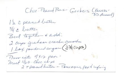 Chocolate Peanut Butter Bars - Goobers