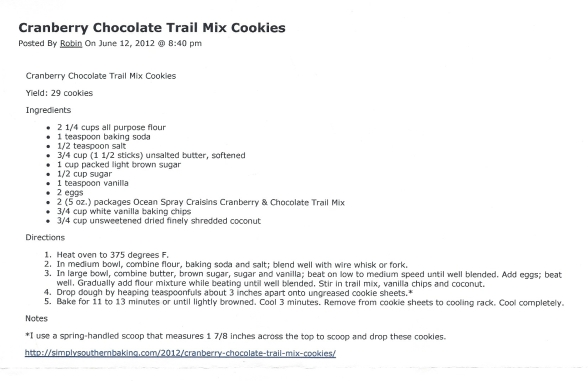 Cranberry Chocolate Trail Mix Cookies