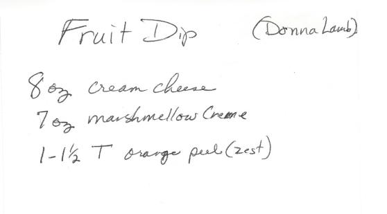 Fruit Dip-Donna