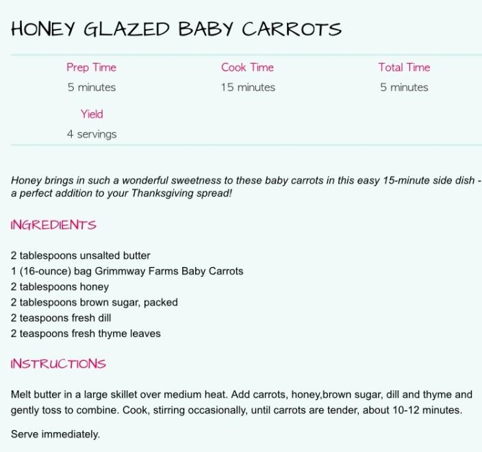 Honey Glazed Baby Carrots