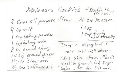 Molasses Cookies-Jane Banister