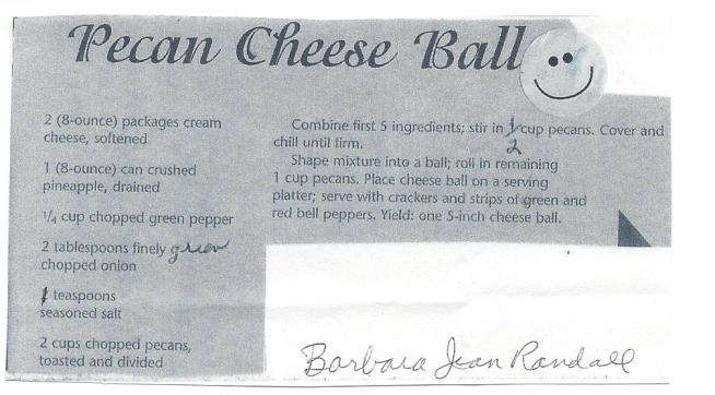 Pecan Cheese Ball-Barbara Jean