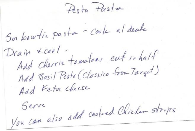 Pesto Pasta-Meg