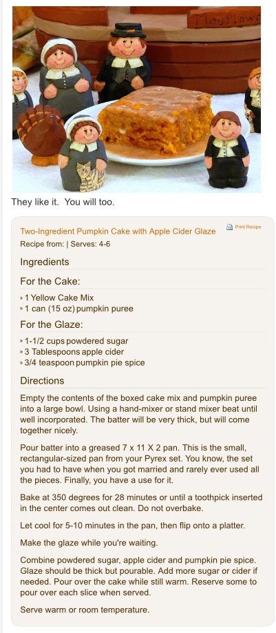 Pumpkin Cake with Cidar Glaze