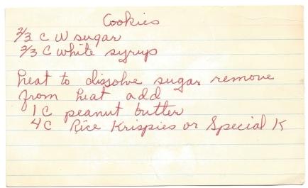 Rice Krispie-Peanut Butter Cookies-Wanda