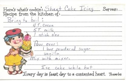 Sheet Cake Icing