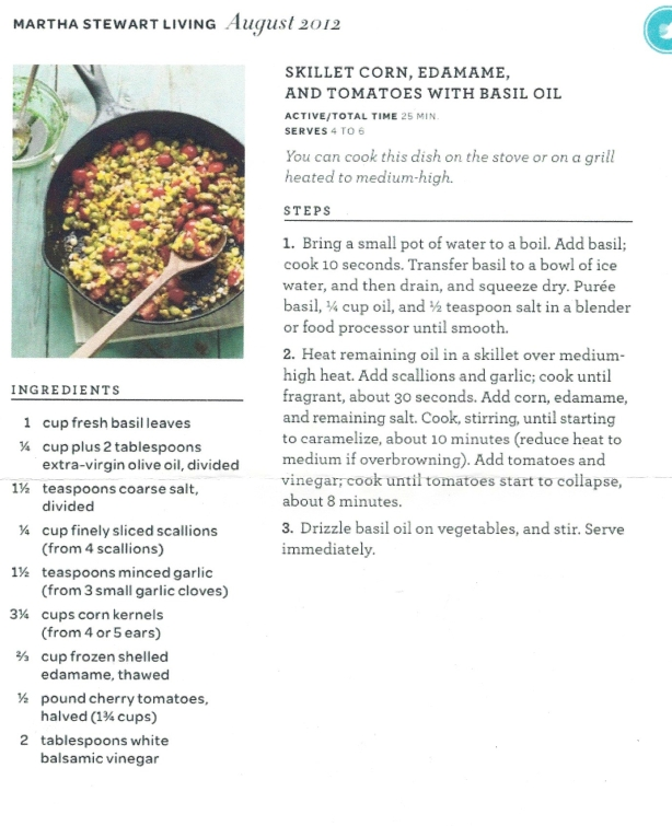 Skillet Corn and beans