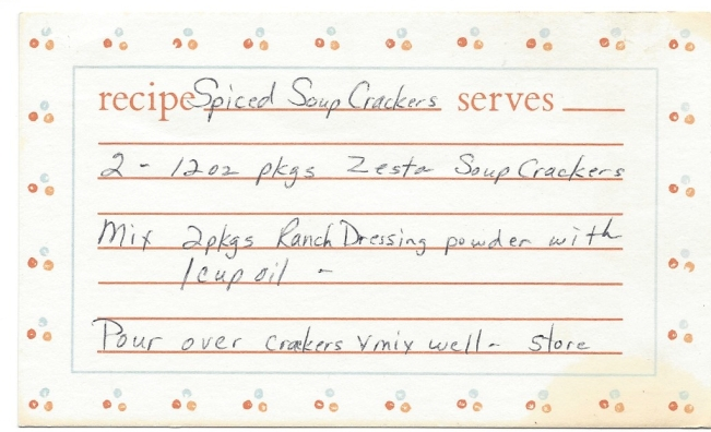Spiced Soup Crackers
