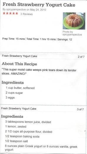 Strawberry Yogurt Cake pg1