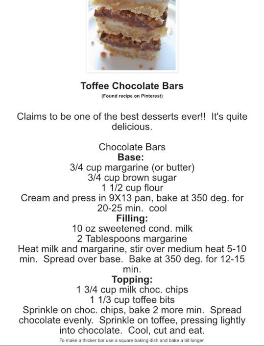 Toffee Chocolate BArs