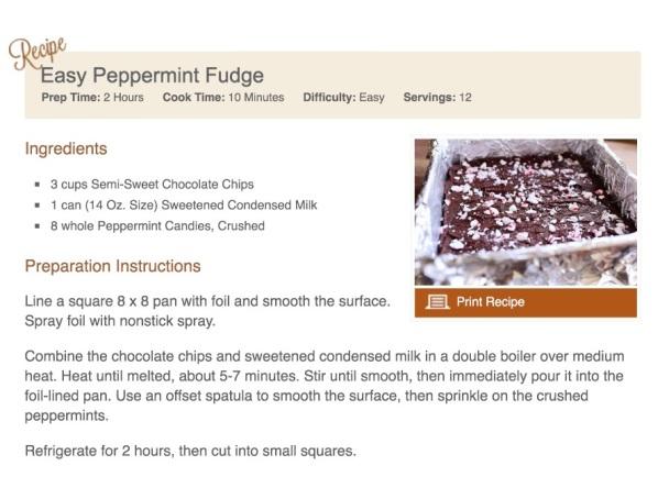 Easy Peppermint Fudge