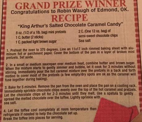 King Arthur's Salted Chocolate Caramel Candy