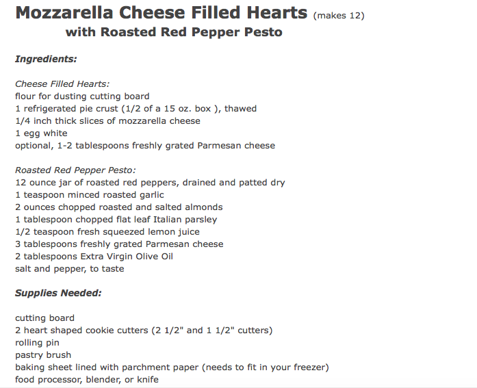 Mozzarella Cheese Filled Hearts