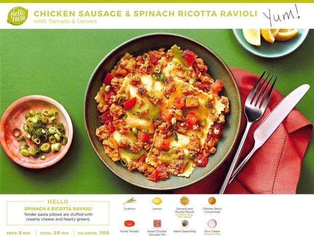 Chicken Sausage & Spinach Ricotta Ravioli - Yum!.jpg