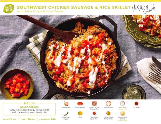 1SW Chicken Sausage & Rice Skillet-Hello Fresh-Very, Very good